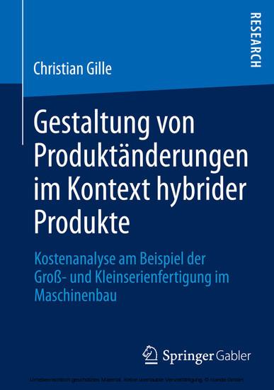 Gestaltung von Produktänderungen im Kontext hybrider Produkte - Blick ins Buch