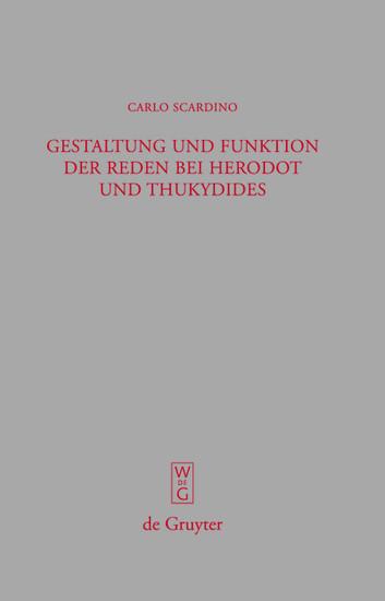 Gestaltung und Funktion der Reden bei Herodot und Thukydides - Blick ins Buch
