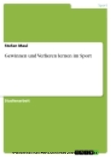 Gewinnen und Verlieren lernen im Sport - Blick ins Buch