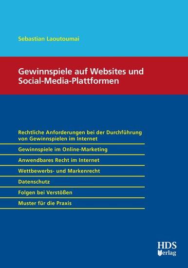 Gewinnspiele auf Websites und Social-Media-Plattformen - Blick ins Buch
