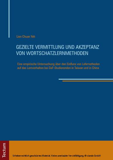 Gezielte Vermittlung und Akzeptanz von Wortschatzlernmethoden - Blick ins Buch