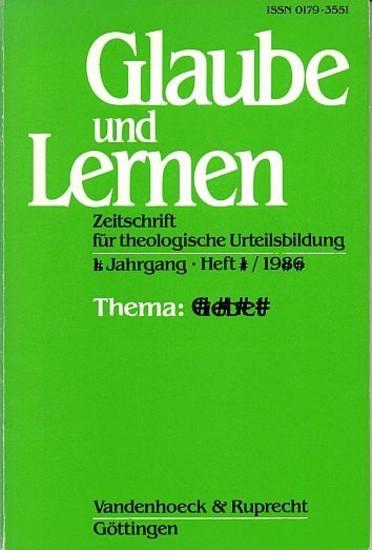 Glaube und Lernen 1/2008 Themenheft: Schöpfung und Natur - Blick ins Buch