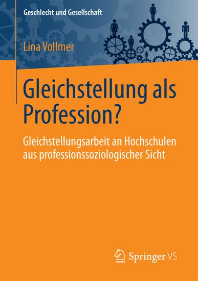 Gleichstellung als Profession? - Blick ins Buch