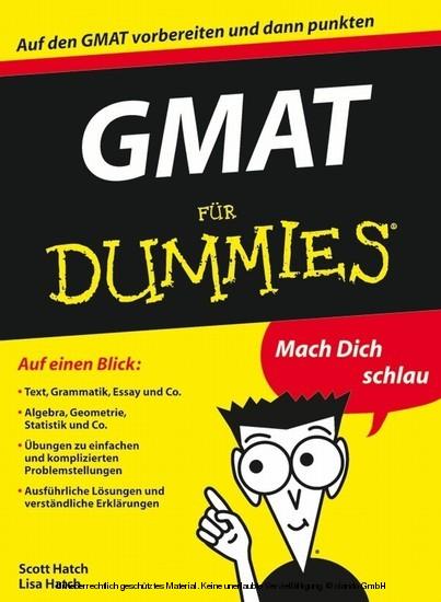 GMAT für Dummies - Blick ins Buch