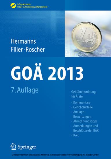 GOÄ 2013 - Blick ins Buch