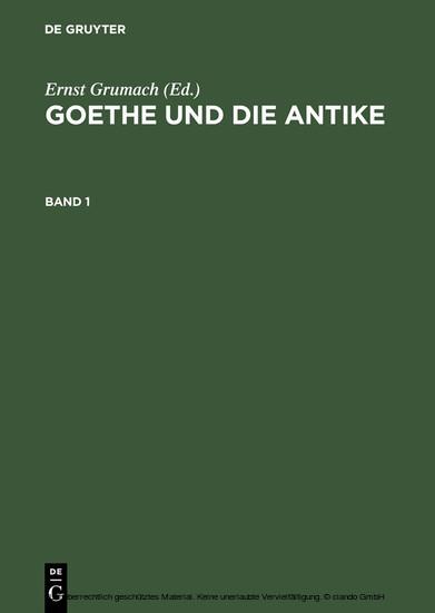 Goethe und die Antike - Blick ins Buch