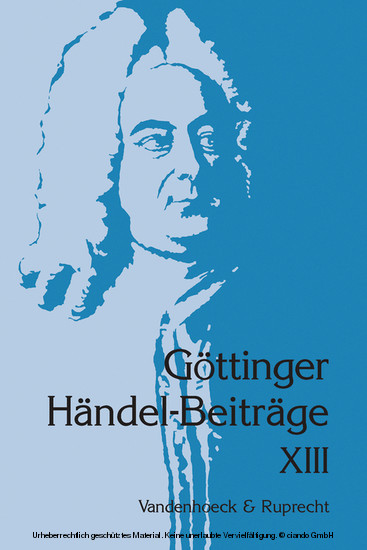 Göttinger Händel-Beiträge, Band 13 - Blick ins Buch