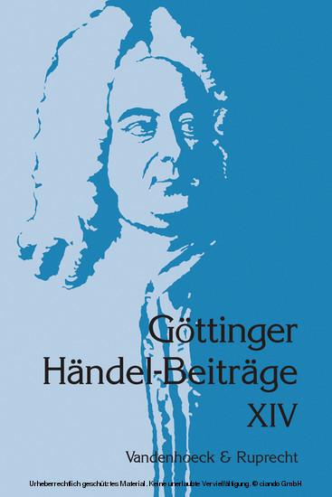 Göttinger Händel-Beiträge, Band 14 - Blick ins Buch