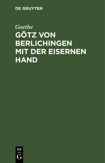 Götz von Berlichingen mit der eisernen Hand - Blick ins Buch