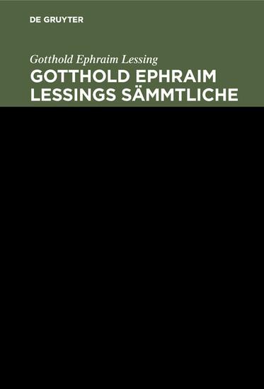 Gotthold Ephraim Lessing: Gotthold Ephraim Lessings Sämmtliche Schriften. Band 8 - Blick ins Buch