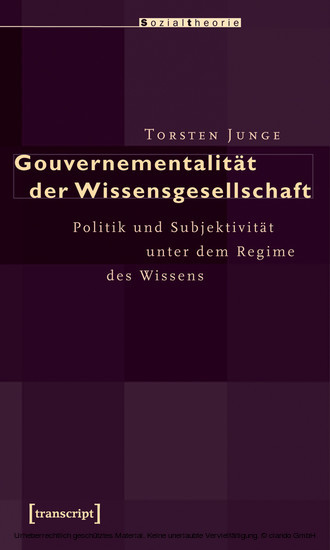 Gouvernementalität der Wissensgesellschaft - Blick ins Buch