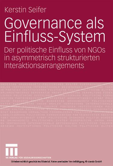 Governance als Einfluss-System - Blick ins Buch