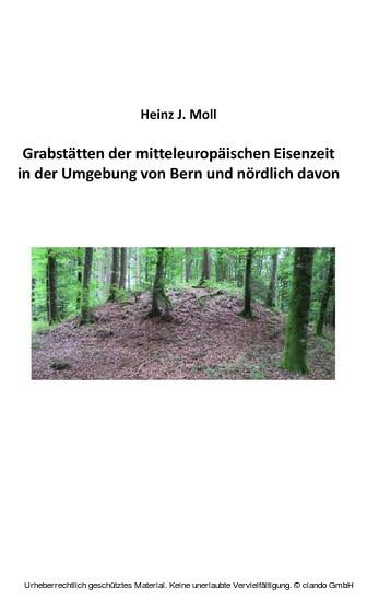 Grabstätten der mitteleuropäischen Eisenzeit in der Umgebung von Bern und nördlich davon - Blick ins Buch
