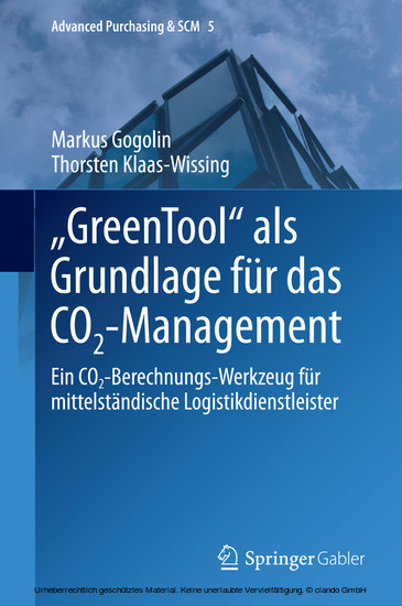 'GreenTool' als Grundlage für das CO2-Management - Blick ins Buch