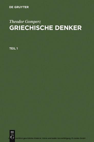 Griechische Denker - Blick ins Buch
