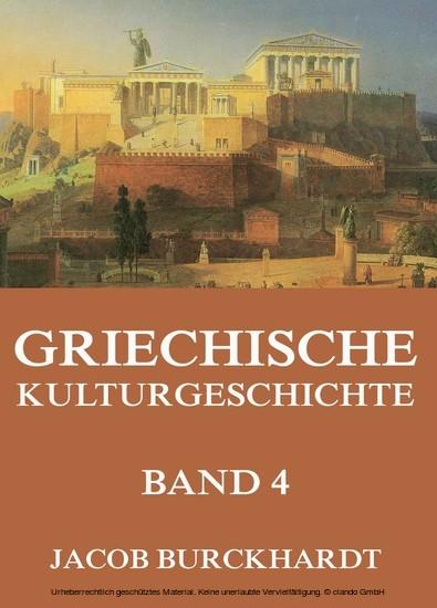 Griechische Kulturgeschichte, Band 4 - Blick ins Buch