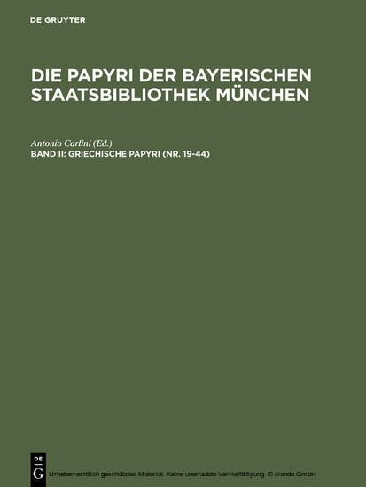 Griechische Papyri (Nr. 19-44) - Blick ins Buch