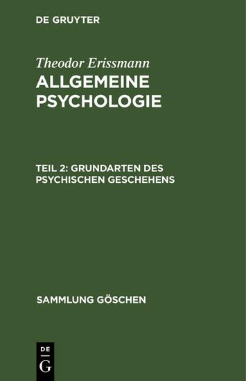 Grundarten des psychischen Geschehens - Blick ins Buch