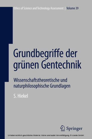 Grundbegriffe der grünen Gentechnik - Blick ins Buch