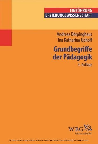 Grundbegriffe der Pädagogik - Blick ins Buch
