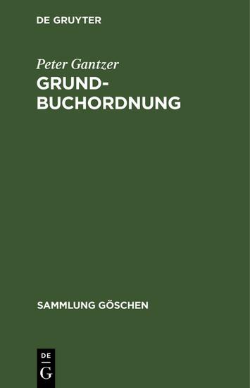 Grundbuchordnung - Blick ins Buch