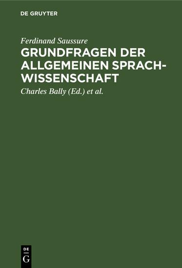 Grundfragen der allgemeinen Sprachwissenschaft - Blick ins Buch