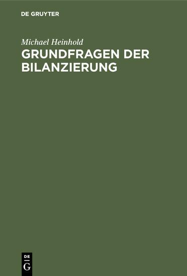 Grundfragen der Bilanzierung - Blick ins Buch