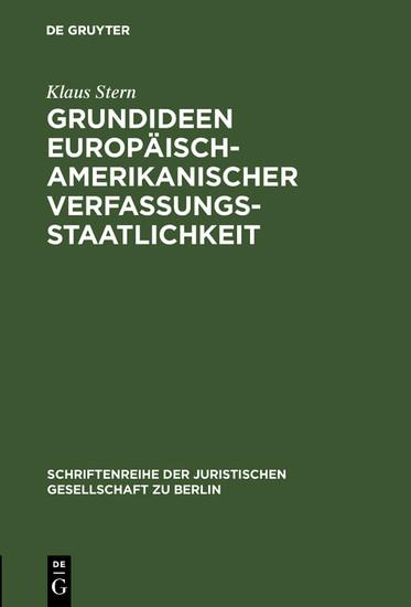 Grundideen europäisch-amerikanischer Verfassungsstaatlichkeit - Blick ins Buch