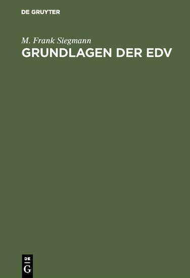 Grundlagen der EDV - Blick ins Buch