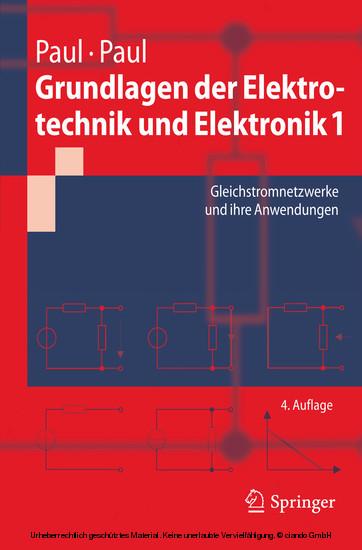 Grundlagen der Elektrotechnik und Elektronik 1 - Blick ins Buch
