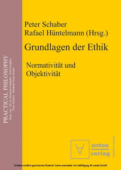 Grundlagen der Ethik - Blick ins Buch
