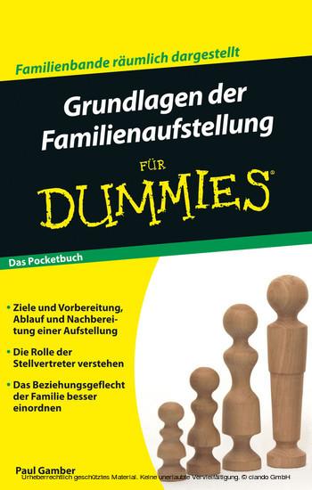 Grundlagen der Familienaufstellung für Dummies Pocketbuch - Blick ins Buch