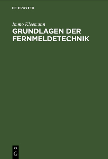 Grundlagen der Fernmeldetechnik - Blick ins Buch