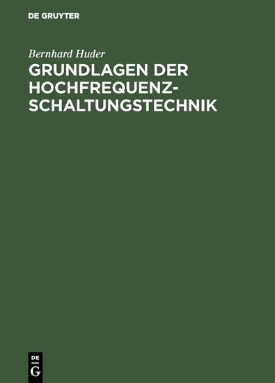 Grundlagen der Hochfrequenz-Schaltungstechnik - Blick ins Buch
