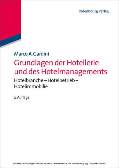 Grundlagen der Hotellerie und des Hotelmanagements - Blick ins Buch