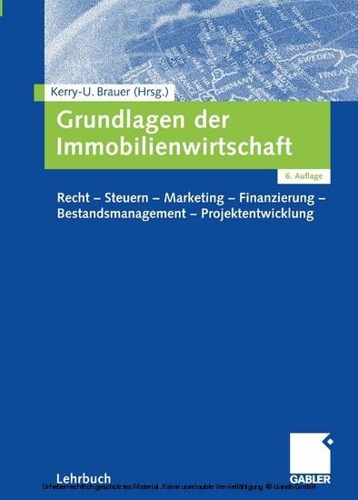 Grundlagen der Immobilienwirtschaft - Blick ins Buch