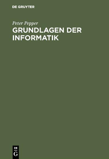 Grundlagen der Informatik - Blick ins Buch