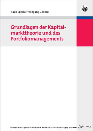 Grundlagen der Kapitalmarkttheorie und des Portfoliomanagements - Blick ins Buch
