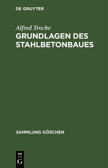 Grundlagen des Stahlbetonbaues - Blick ins Buch