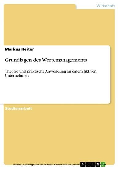 Grundlagen des Wertemanagements - Blick ins Buch