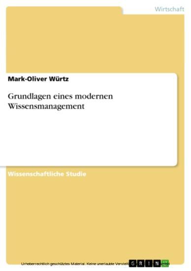Grundlagen eines modernen Wissensmanagement - Blick ins Buch