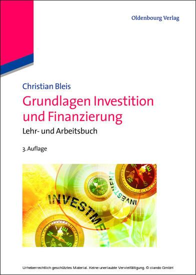 Grundlagen Investition und Finanzierung - Blick ins Buch