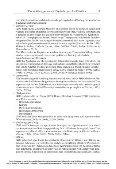 Grundlagen Klärungsorientierter Psychotherapie - Blick ins Buch
