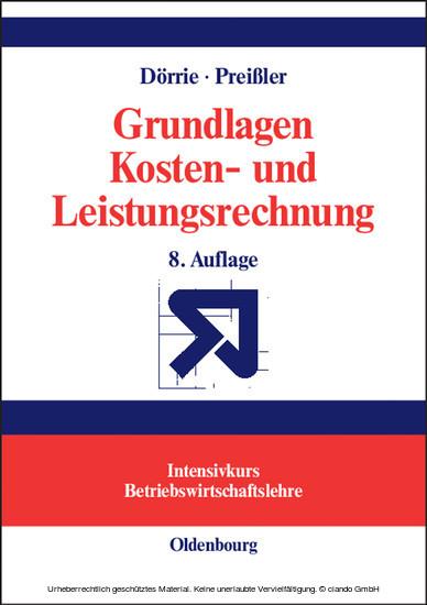 Grundlagen Kosten- und Leistungsrechnung - Blick ins Buch