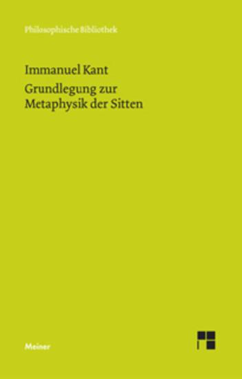 Grundlegung zur Metaphysik der Sitten - Blick ins Buch