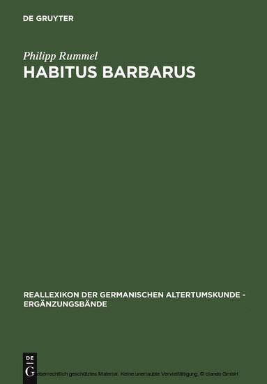 Habitus barbarus - Blick ins Buch