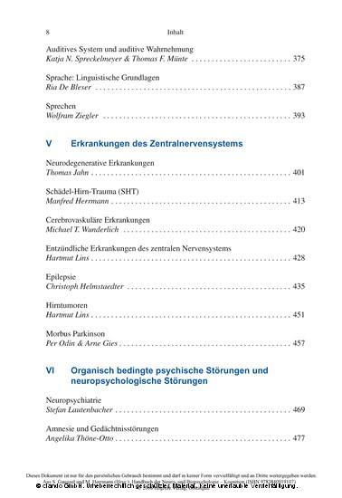 Handbuch der Neuro- und Biopsychologie - Blick ins Buch