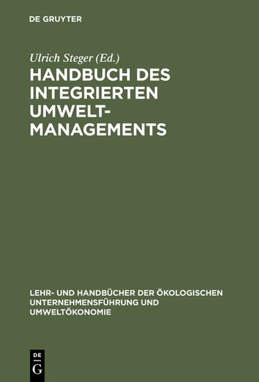 Handbuch des integrierten Umweltmanagements - Blick ins Buch