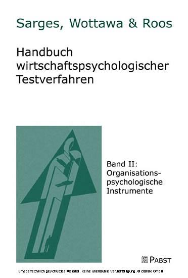 Handbuch wirtschaftlicher Testverfahren - Blick ins Buch