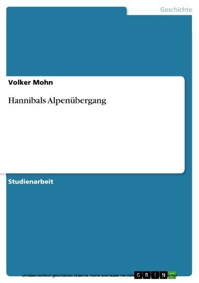 Hannibals Alpenübergang - Blick ins Buch